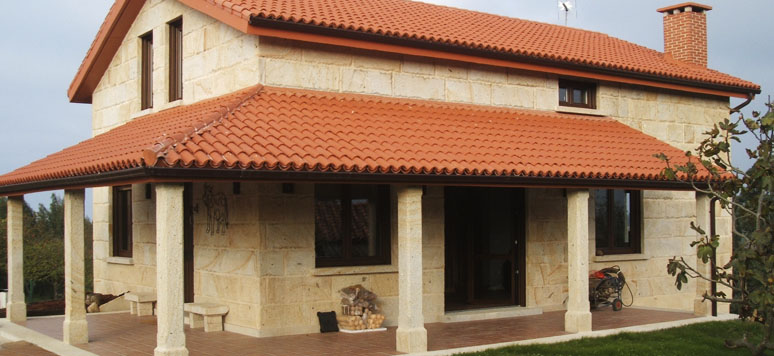 Casas de piedra y madera best casas de piedra y madera - Casas con porches de madera ...